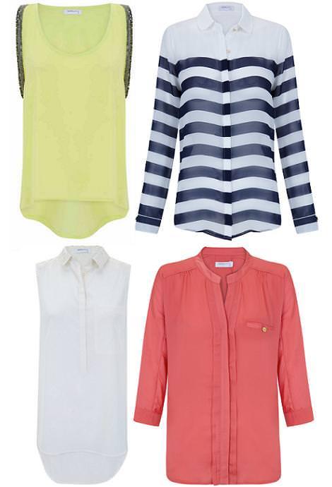 Ropa de Blanco primavera verano 2012: camisetas y blusas