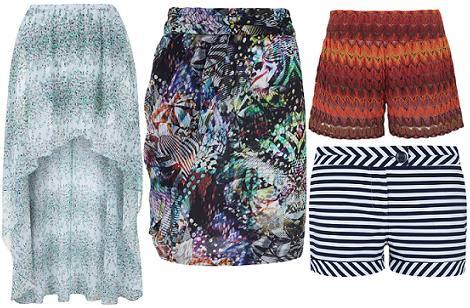 Ropa de Blanco primavera verano 2012: faldas y shorts