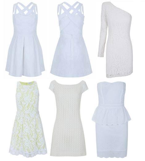 Vestidos de Blanco primavera verano 2012 en color blanco