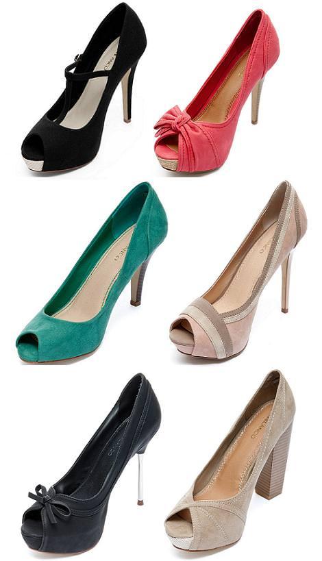 Zapatos Blanco primavera 2012 peep toe