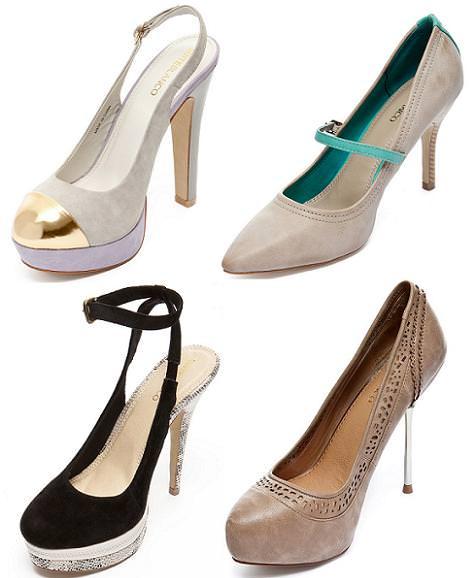 Zapatos Blanco primavera 2012 salones