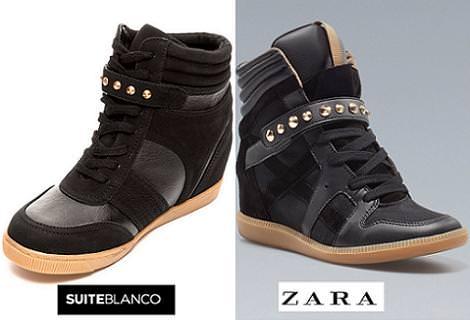 Blanco clona los sneakers de Zara con tachuelas