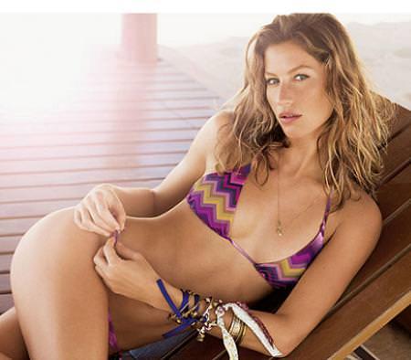 Gisele Bunch, bikinis de Calzedonia 2009