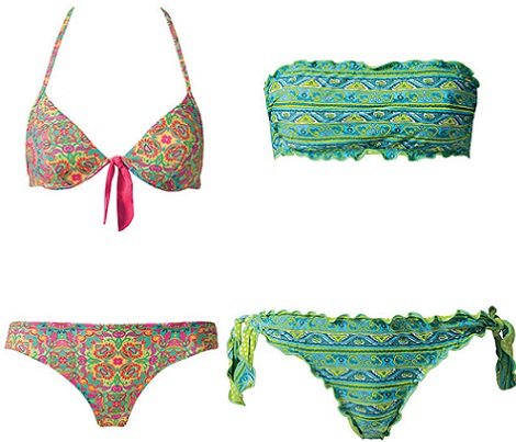 bikinis paisley de Calzedonia verano 2014