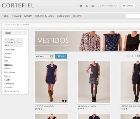 Cortefiel tienda online