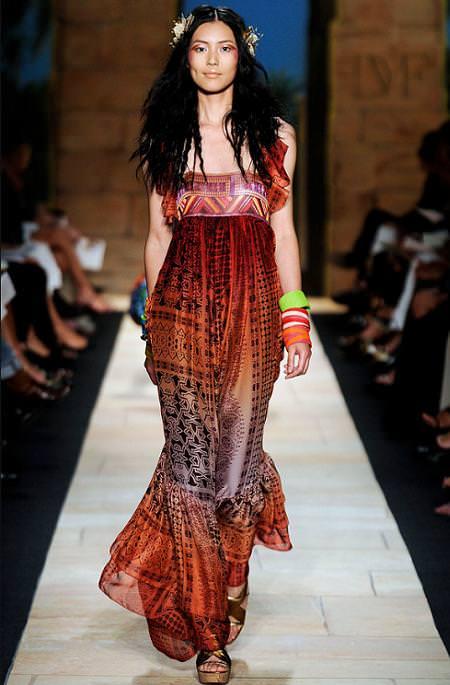 Diane Von Furstenberg, moda primavera verano 2010