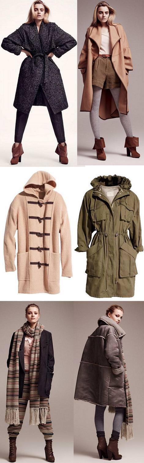 Abrigos de H&M, otoño invierno 2010 2011
