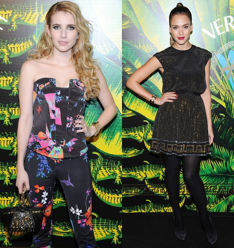 It girls de vestidas de Versace for H&M