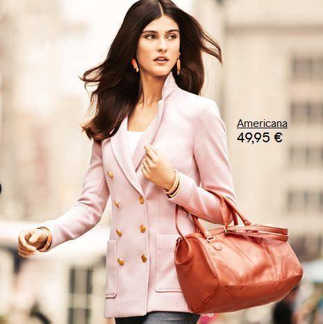 H&M clasicos americana rosa