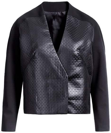 chaqueta de cuero de hm primavera 2012