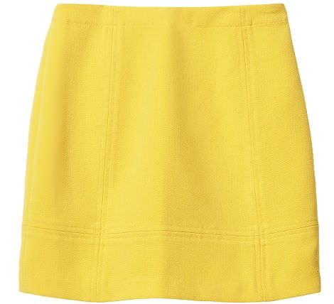 falda amarilla de hm primavera 2012