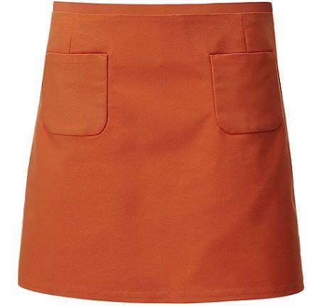 falda naranja de hm primavera 2012