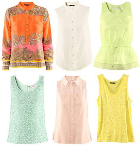 H&M primavera verano 2012 camisetas y blusas