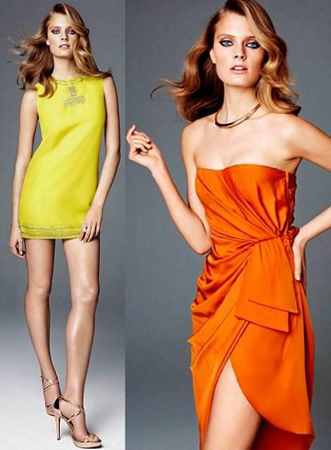 Vestidos de fiesta de H & M primavera verano 2012 cortos