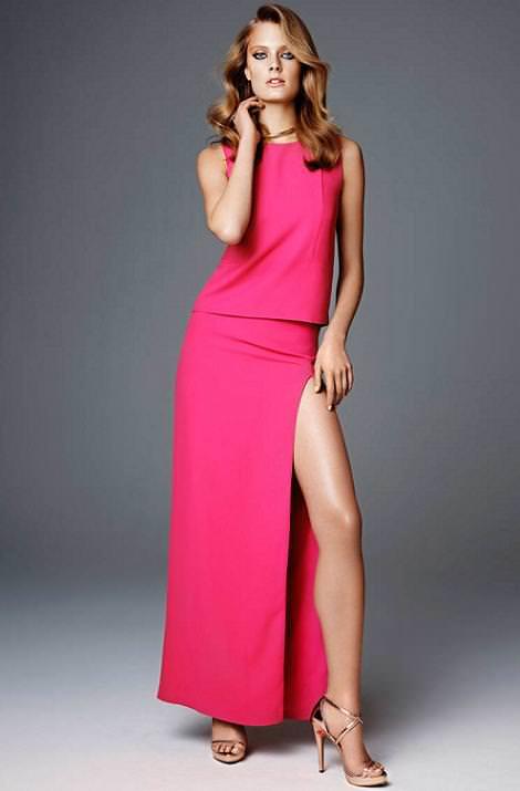 Vestidos de fiesta de H & M primavera verano 2012 largo abertura pierna
