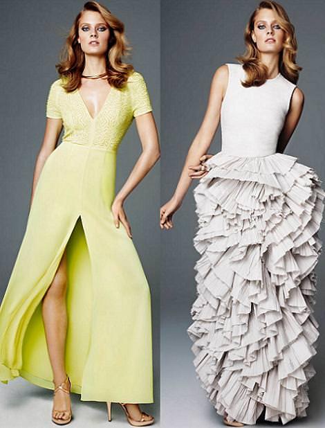Vestidos de fiesta de H & M primavera verano 2012 largos