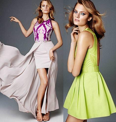 Vestidos de fiesta de H & M primavera verano 2012