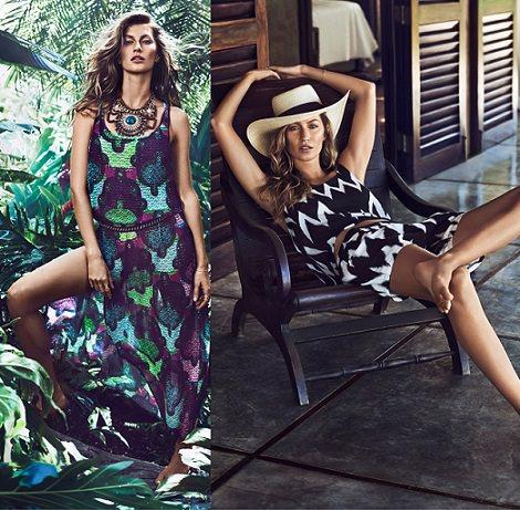 vestido largo de H&M con Gisele Bundchen verano 2014