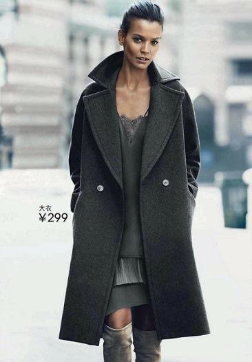 abrigos de H&M otoño invierno 2014 2015