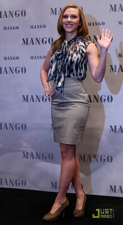 Scarlett Johansson con Mango, otoño invierno 2009 2010