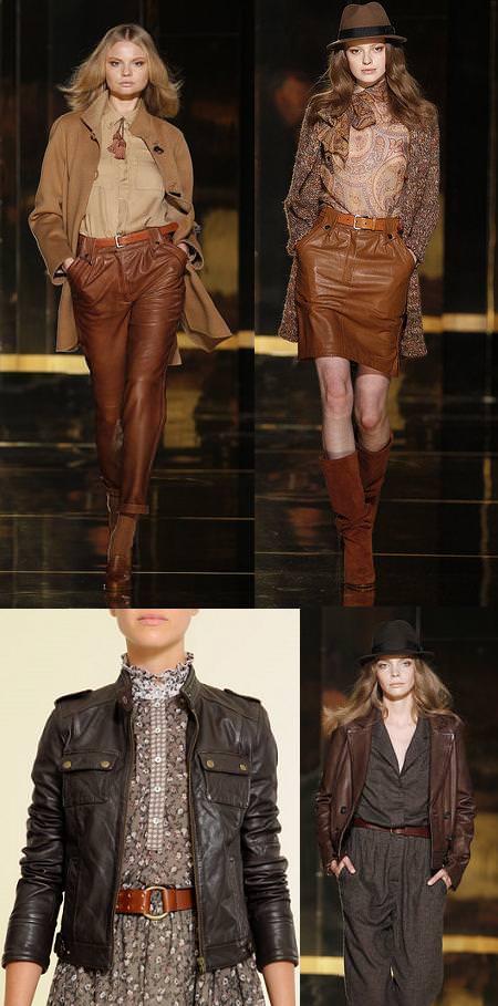 Tendencias moda otoño 2010: Cuero