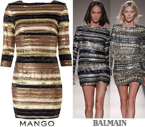 Nuevo vestido de fiesta de Mango, clon de Balmain