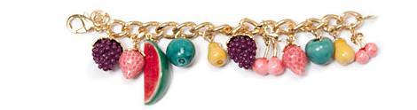 Collares y pulseras de frutas