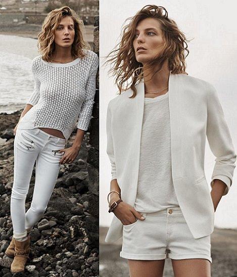 ropa blanca de mango verano 2014