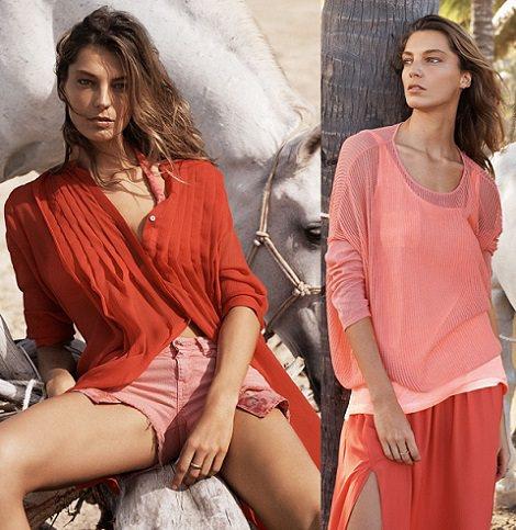 ropa roja de mango verano 2014