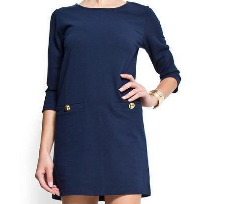 vestido azul de mango primavera 2012