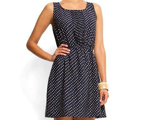 vestido de topos corto de mango primavera 2012