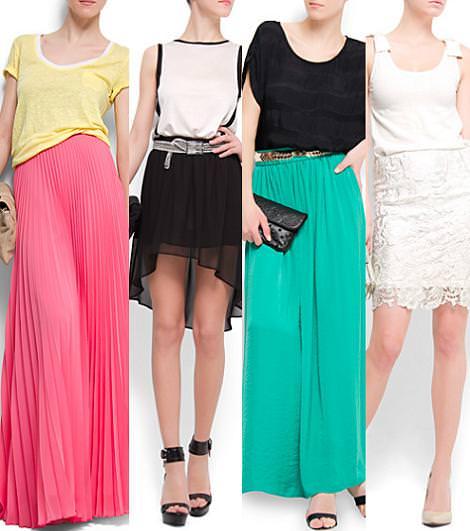 Mango primavera verano 2012 faldas