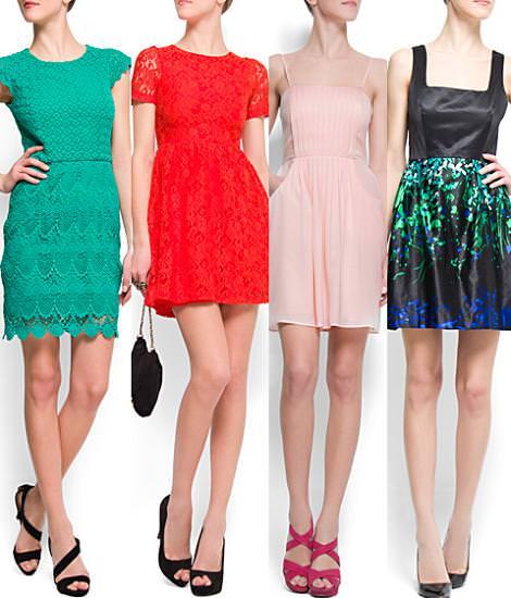 Mango primavera verano 2012 vestidos cortos
