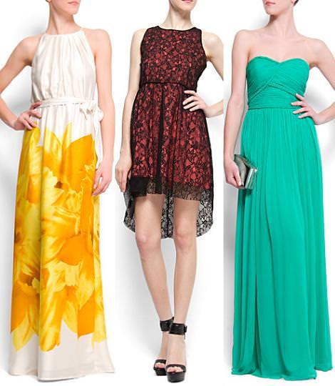 Vestidos de fiesta de Mango 2012