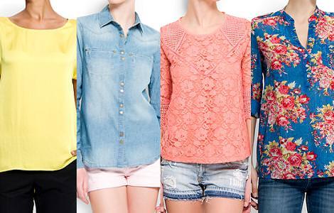 Mango primavera verano 2012 camisas y camisetas