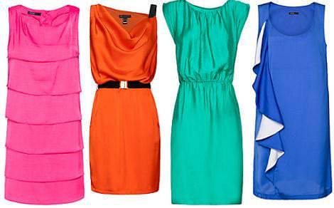 Vestidos Mango primavera 2012 colores