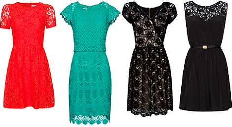 Vestidos Mango primavera 2012 encaje y crochet
