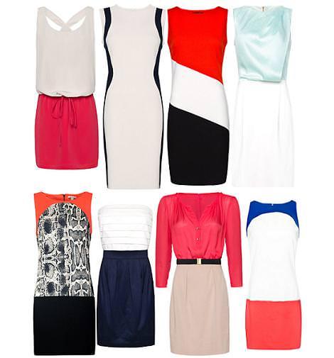 Vestidos de Mango primavera verano 2012 combinados