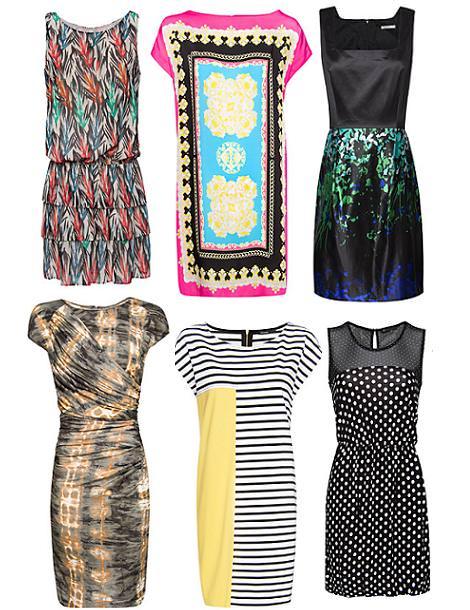 Vestidos de Mango primavera verano 2012 estampados