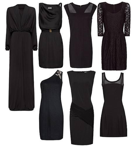 Vestidos de Mango primavera verano 2012 negros