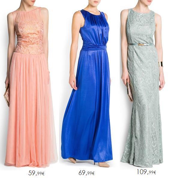 Vestidos largos para bodas y fiestas de Mango 2013