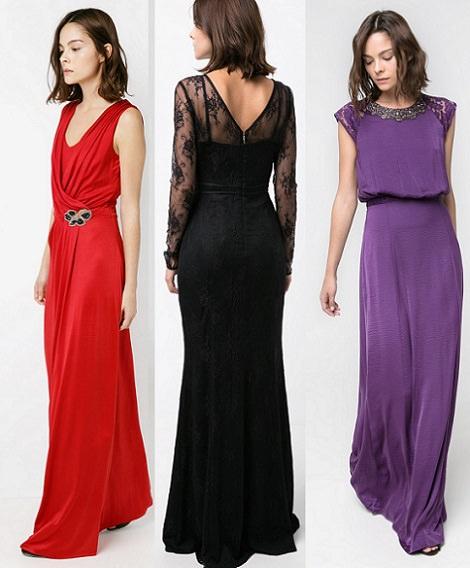 vestidos largos mango otoño invierno 2014 2015