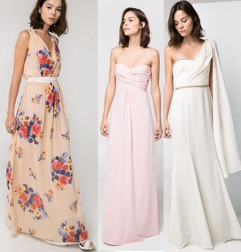 vestidos estampados de mango para fiestas verano 2014