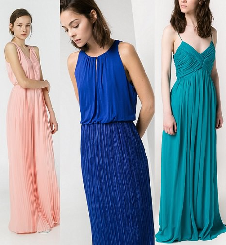 vestidos de mango largos plisados para fiestas verano 2014
