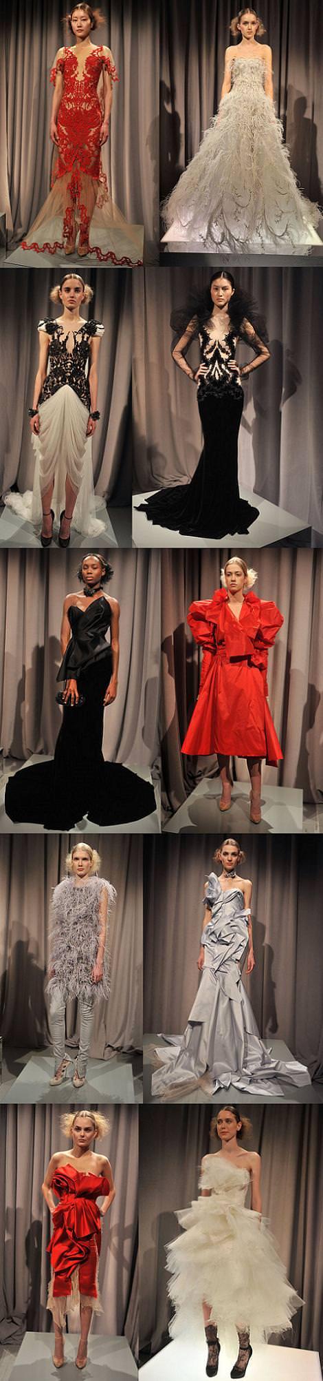 Vestidos de Marchesa otoño invierno 2011 2012