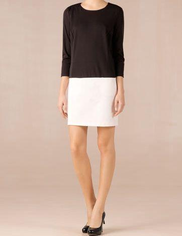 massimo dutti vestido blanco y negro