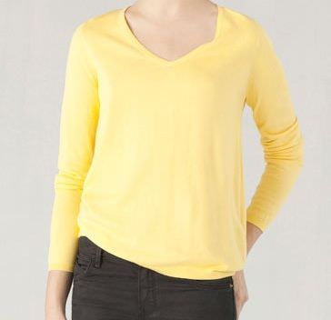 massimo dutti jersey amarillo