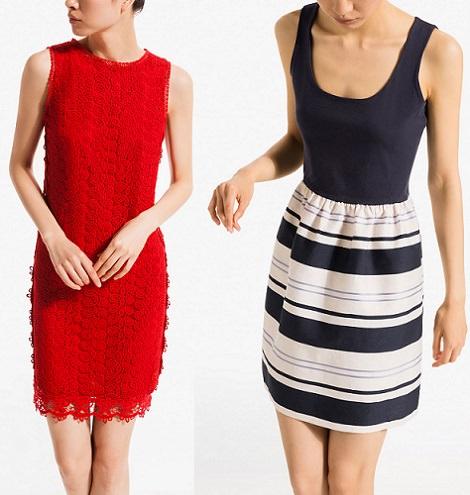 vestidos cortos de encaje de Massimo Dutti verano 2014