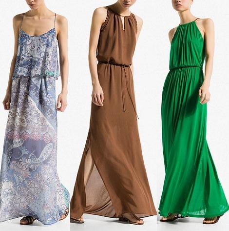 vestidos largos de Massimo Dutti verano 2014