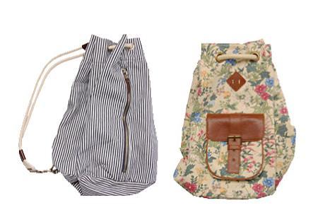 Oysho 2010: mochilas